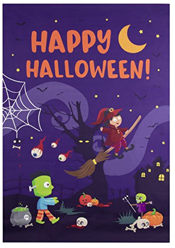 Photo Backdrop - Party Photo-Booth Background with Happy Halloween Design, Photography Background for Studio, Birthday Party, Haunted House, 5 x 7 Feet, 60 x 84 Inches -