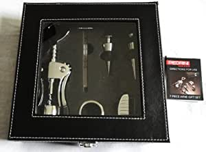 Pedrini 7 Piece Deluxe Chrome Wine Gift Set