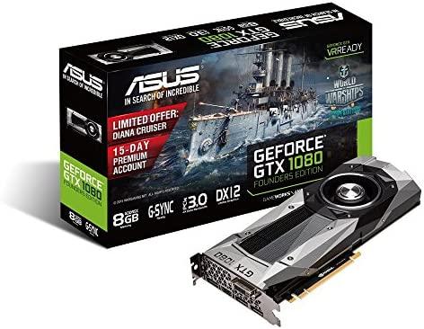 ASUS GTX1080-8G - Tarjeta gráfica (NVIDIA GeForce GTX 1080 ...