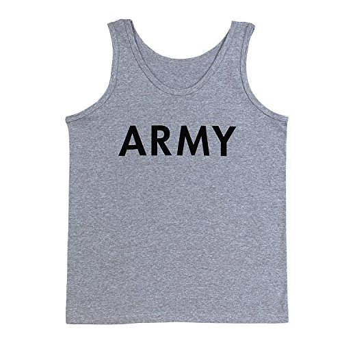 Rothco P/T Tank Top - Army/Grey, Large