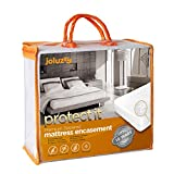 joluzzy TWIN Size 100% Bed Bug Proof/Waterproof - Zippered Mattress Protector - Cotton Terry/Breathable / Noiseless - Six-Sided Mattress Encasement - Hypoallergenic, Vinyl-Free