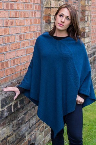 Love Cashmere Women's 100% Cashmere Poncho - Fuchsia Pink - Made In Scotland by RRP $600 by Love Cashmere (Image #1)