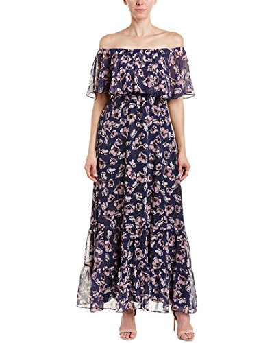 Donna Morgan Women's Pleated Midi Dress with High Low Hem, Marine Navy Multi, 2 Morgan Pleated Dress