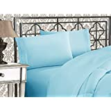 Elegant Comfort 4-Piece Egyptian Quality Bed Sheet Sets with Deep Pockets, King, Aqua