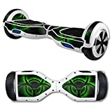 MightySkins Protective Vinyl Skin Decal for Self Balancing Scooter Board mini hover 2 wheel x1 razor wrap cover sticker Bio Glow