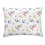 Roostery Bingo Euro Knife Edge Pillow Sham Bingo Balls by Dd BAZ Natural Cotton Sateen Made