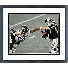 """Von Miller Denver Broncos Super Bowl 50 Spotlight Action Photo (Size: 12.5"""" x 15.5"""") Framed"""