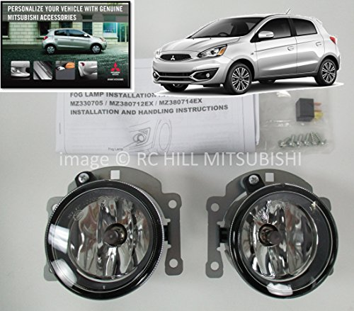 GENUINE MITSUBISHI MZ380713EX 2017 MIRAGE 3DR HATCHBACK FOG LIGHTS KIT, DOES NOT APPLY TO G4 4 door SEDAN from Mitsubishi
