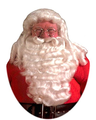 (Professional Santa Wig & Beard with Wired Mustache)