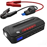 DBPOWER 800A Peak 18000mAh Portable Car Jump Starter (up to 6.5L Gas, 5.5L Diesel Engine), Car Battery Booster & Portable Phone Charger with LED Flashlight and Dual USB Ports