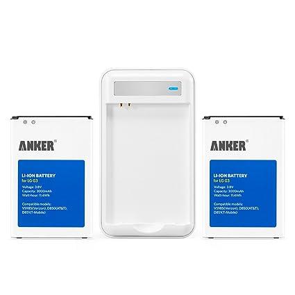 Amazon.com: Anker 2 x 3000 mAh Li-Ion baterías para LG G3 ...