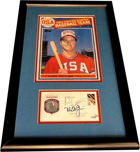 (Mark McGwire Hand Signed Custom Framed Envelope Cache w/ 8x10 W/ 8x10 Photo USA)