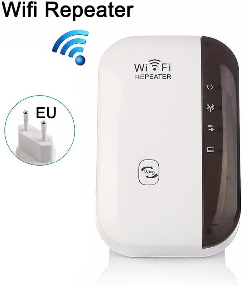 Miss de a 300m wifi Range Extender, inalámbrica WiFi Repetidor Amplificador de señal WiFi Rango extensor señal Booster, Blanco