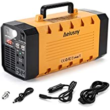 Aeiusny Solar Portable Generator, 288Wh UPS 500W for Home Camping CPAP Emergency Backup Solar Charger Charged by Solar Panel/Wall Outlet/Car