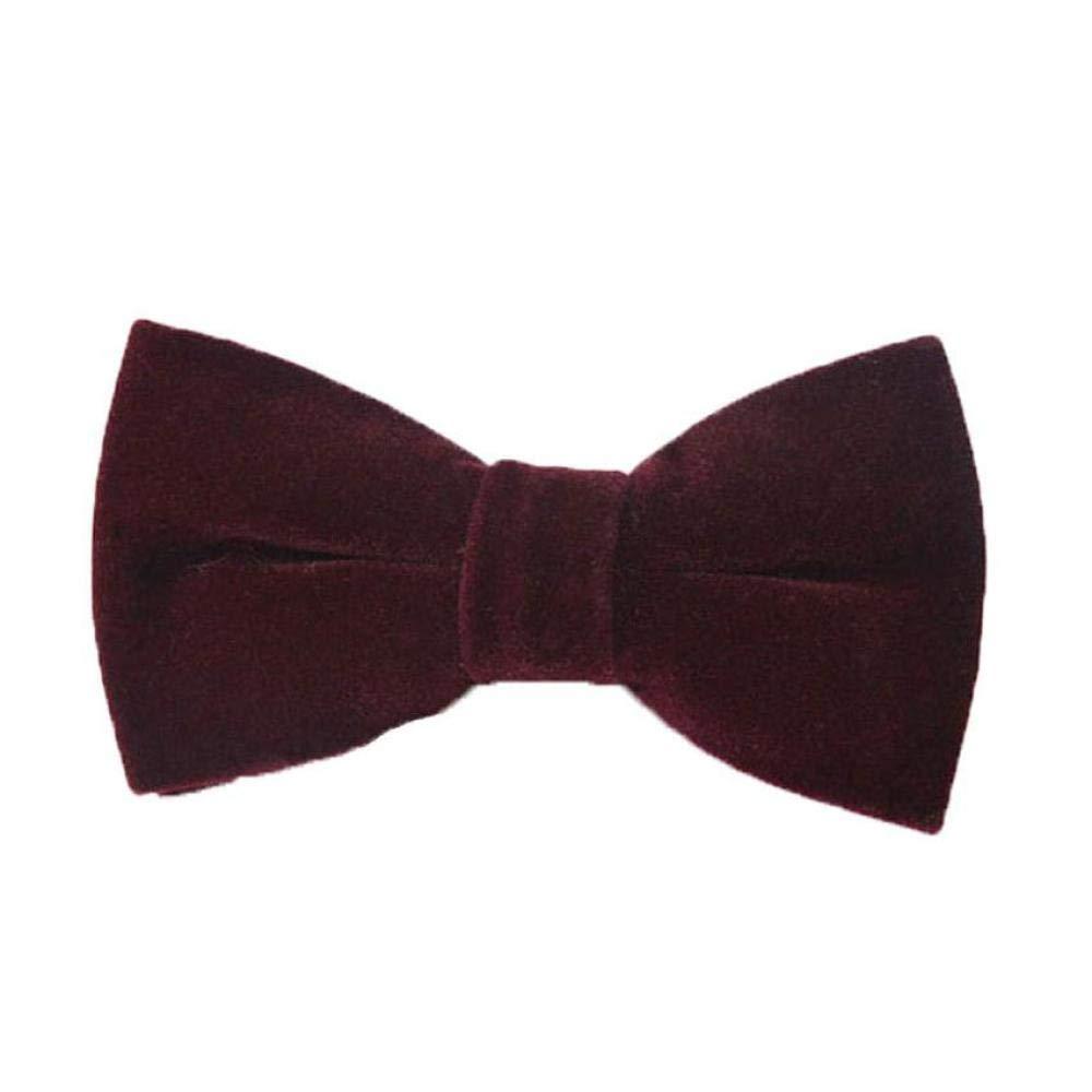FidgetFidget Bow Tie Wedding Men Velvet Big Solid Adjustable Pre-tied High-grade Bowtie