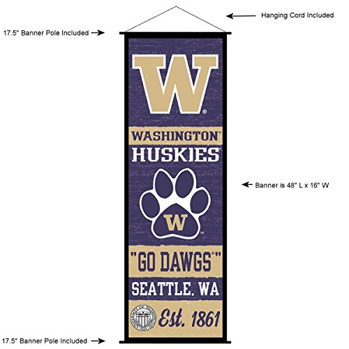 - Washington Huskies Banner and Scroll Sign