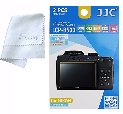 Polycarbonate Lcd (JJC LCP-B500 Anti-Reflection LCD Guard Film Screen Protector for NIKON Coolpix B500 (2 Pcs))