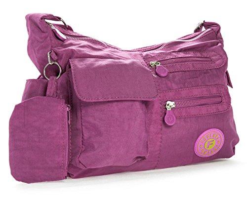dimensioni Unisex Purple in borsa Viola Pouch Shop Orchid di Handbag a medie Big tracolla plastica 6q8wtzAq