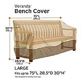 Classic Accessories Veranda Water-Resistant 75 Inch Patio Bench Cover