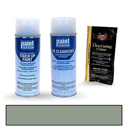 PAINTSCRATCH Medium Spiral Gray Metallic 88/WA812K for 2003 Pontiac Grand Prix - Touch Up Paint Spray Can Kit - Original Factory OEM Automotive Paint - Color Match Guaranteed