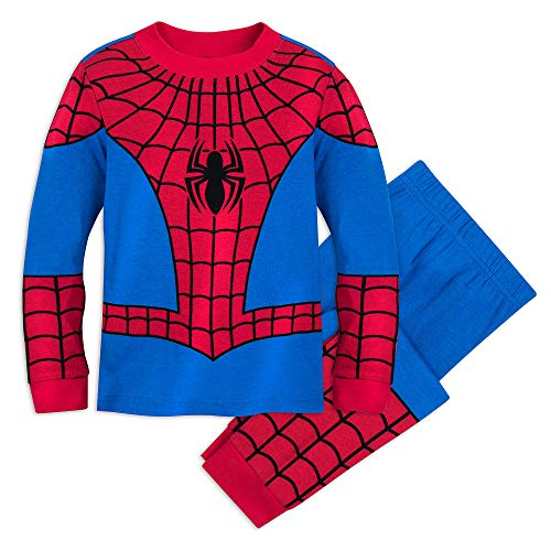 Spiderman Costume For Toddlers (Marvel Spider-Man Costume PJ PALS for Boys Size)