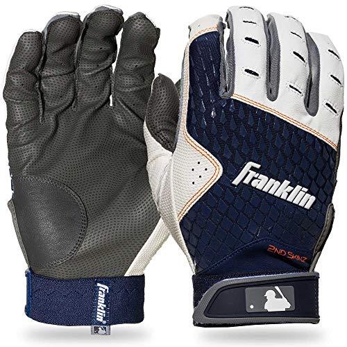 Franklin Sports 2nd-Skinz Batting Gloves Gray/Navy Adult X-Large