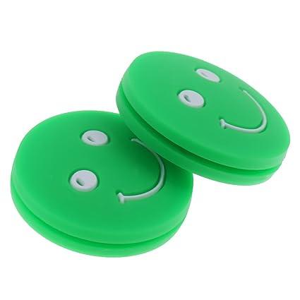 perfk 2 x Amortiguador de vibraciones para tenis, verde ...