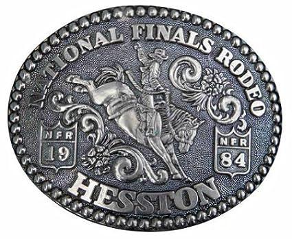 1984 Hesston National Finals Rodeo Novelty Belt Buckle