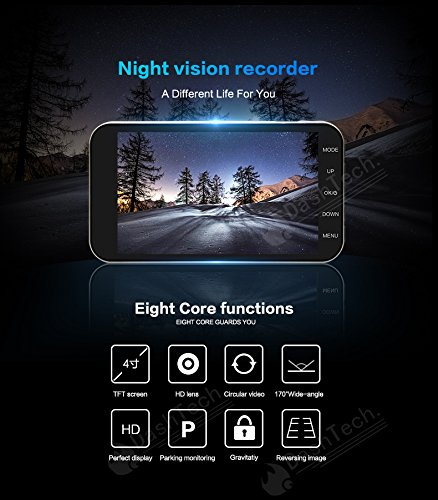 ADDKEY Super Night Vision Car DVR Camera ADAS/LDWS FHD 1296P/1080P 3