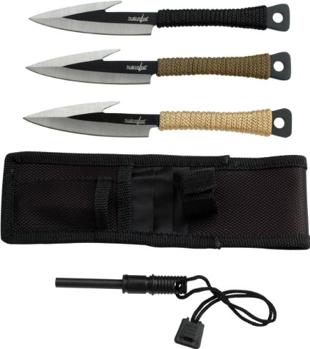 Survivor-HK-753-Fixed-Blade-Knife-Set-3-Piece-6-Inch-Overall