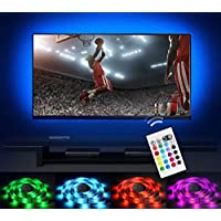 Bias Lighting LED TV Backlight Strip Emotionlite USB Powered Multi Color Changed RGB Tape for Flat Screen HDTV LCD 24keys Remote Controller (32-60)