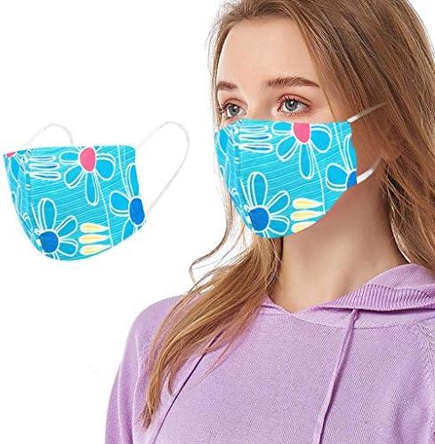 riou Mundschutz mit Motiv Waschbar Wiederverwendbar Mund und Nasenschutz Halstuch für Damen