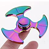 Mmrm Dazzle Mirror Axe Dart ADHD Anxiety Autism Stress Reducer Fidget Hand Spinner Toy for Adults and Children
