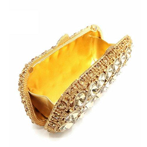 Diamante Bolsa Joya Tarde De Lujo / / Hueco De Embrague Completo De Embrague De Alto Grado Gold
