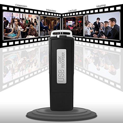 FlatLED Digital Audio Voice Recorder USB Pen Drive 150 Hours (8GB)
