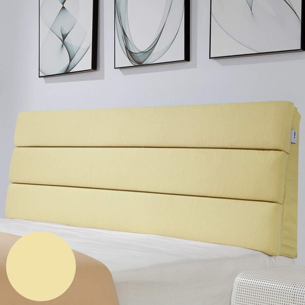 ベッドサイドクッションウォールピロー布張りウェッジ背もたれサポートソフトカバーヘッドボードなしでベッドのために取り外し可能ベッドサイドソファ柔らかい洗えるマルチカラーオプション (Color : A, Size : No headboard-90cm) B07TCZVB3M A No headboard-90cm