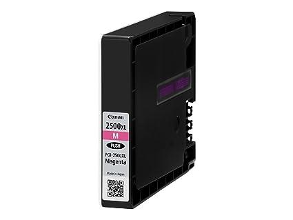 Canon PGI-2500XL M Cartucho de tinta original Magenta para Impresora de Inyeccion de tinta Maxify MB5050-MB5150-MB5155-MB5350-MB5450-MB5455-iB4050-iB4...