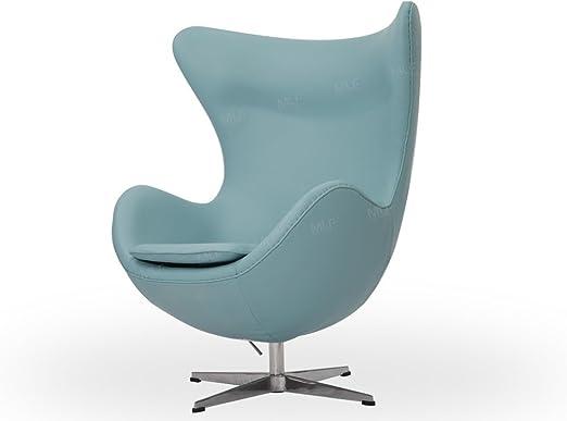 Egg Chair Arne Jacobsen Kopie.Amazon Com Mlf Arne Jacobsen Egg Chair In Blue Italian Leather
