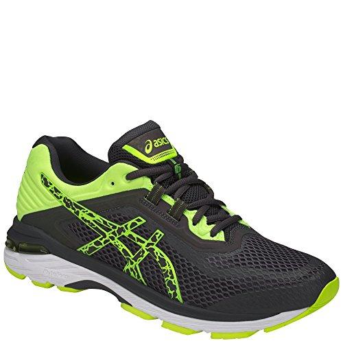 Asics Mens Gt-2000 6 Lite-Show Shoes Dark Grey/Dark Grey/Safety Yellow FLSzGb