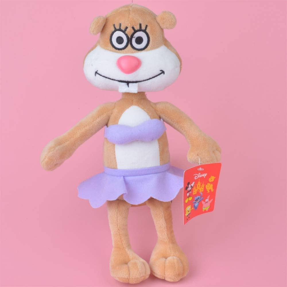 Yzhome 25 Cm Anime Bob Esponja Sandy Squirrel Baby Kids Doll Gift, Lovely Stuffed Plush Toy Cute Cute Doll Family Decoration Plush Pillow