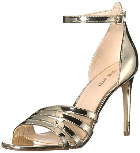 Gold Sandal WoMen Nine Light Synthetic Heeled Jacaran West fXfwqUA0