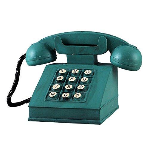 Hewnda Antique Telephone Creative Retro Decorative Phone Resin Rotary Dialing Telephone Decorating Cafe Bar Window Decoration Home Decoration Props (green) for $<!--$16.99-->