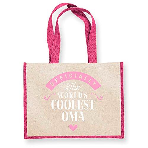 Keepsake Gifts Oma Funny Present Gifts Oma Bag Bag Gift Bag Gift Oma Oma Oma Personalised Great Daughter Oma Shopping Fuchsia Oma Gifts Oma Fuchsia Birthday From Oma Tote B5axnwq