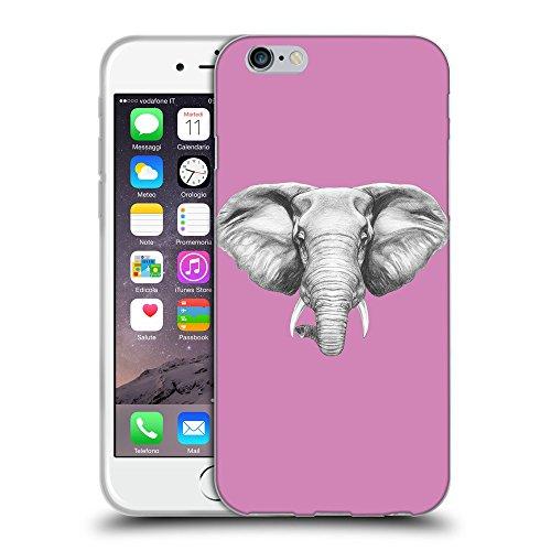 """GoGoMobile Coque de Protection TPU Silicone Case pour // Q05130618 Dessin éléphant Bronze // Apple iPhone 6 4.7"""""""