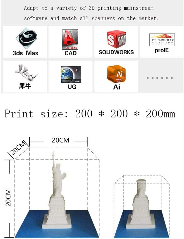 SMGPYDZYP Impresora 3D, Impresora 3D fotocurable, impresión de ...