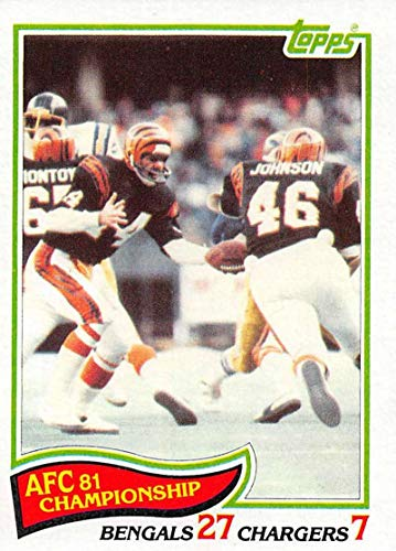1982 Topps Football #7 1981 AFC Championship
