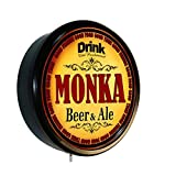 MONKA Beer and Ale Cerveza Lighted Wall Sign