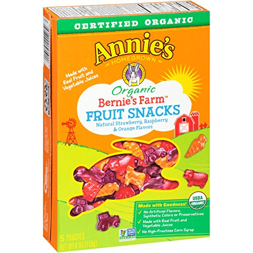Annies Organic Bernies Snacks Pouches product image