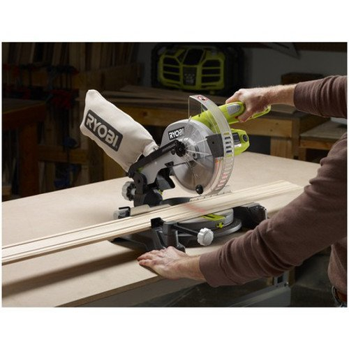 Factory Reconditioned Ryobi ZRTS1143L 7-1/4″ Miter Saw with Laser Green