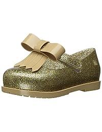 Mini Melissa Kids' Mini Classic Baby Ii Mary Jane Flat,Gold Glass Glitter,7 Regular US Toddler